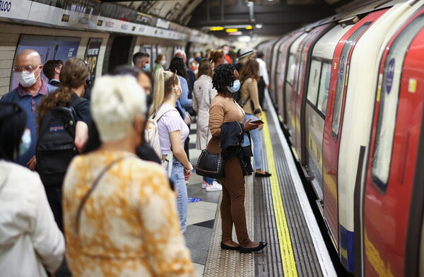 Prime Minister Boris Johnson wants to let individuals decide whether to keep wearing masks in subways, buses and other confined spaces, though the transportation authorities could still require them.