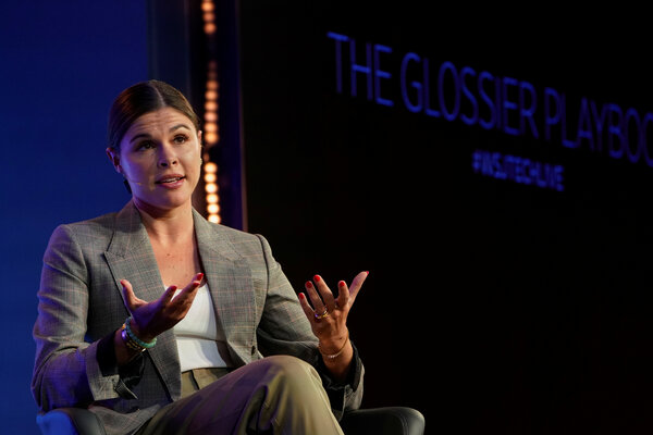 """""""People want to experience Glossier online and offline,"""" said Emily Weiss, Glossier's founder and chief executive."""