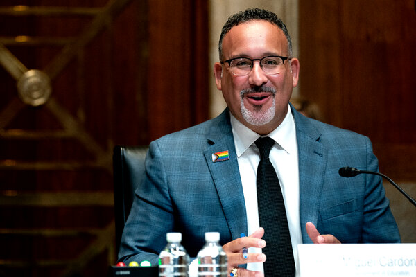 """""""These approvals serve as a warning to any institution engaging in similar conduct that this type of misrepresentation is unacceptable,"""" said Miguel Cardona, the education secretary."""