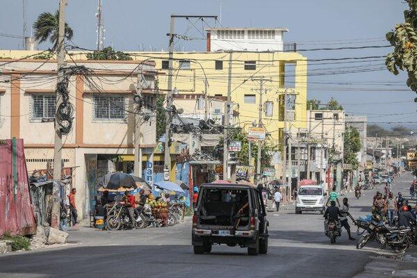 A police patrol in Port-au-Prince on Thursday.