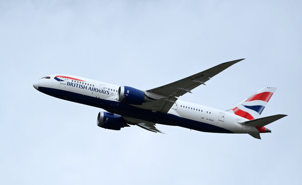 A Boeing 787 Dreamliner flown by British Airways.Boeing said that it expected to deliver less than half of the Dreamliners in its inventory this year.