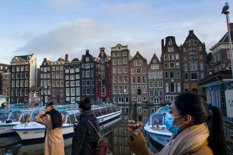 Amsterdam in February.New daily cases in the Netherlands increased from 500 on June 25, a day before restrictions were dropped, to over 10,000 on Saturday.