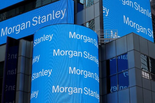 Morgan Stanley's second-quarter revenue was up 8 percent from the same period a year ago.