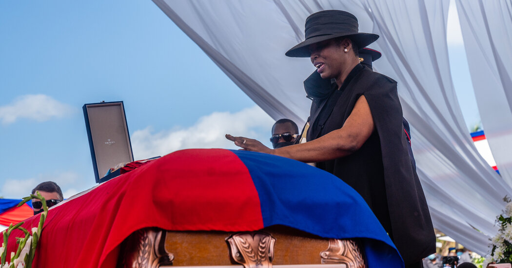 Tense Funeral for Haiti Leader Exposes Rifts, and U.S. Delegation Departs Early