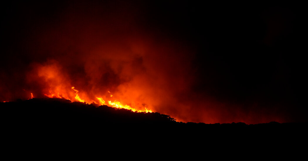 Wildfires ravage the Italian island of Sardinia in 'a disaster without precedent.'