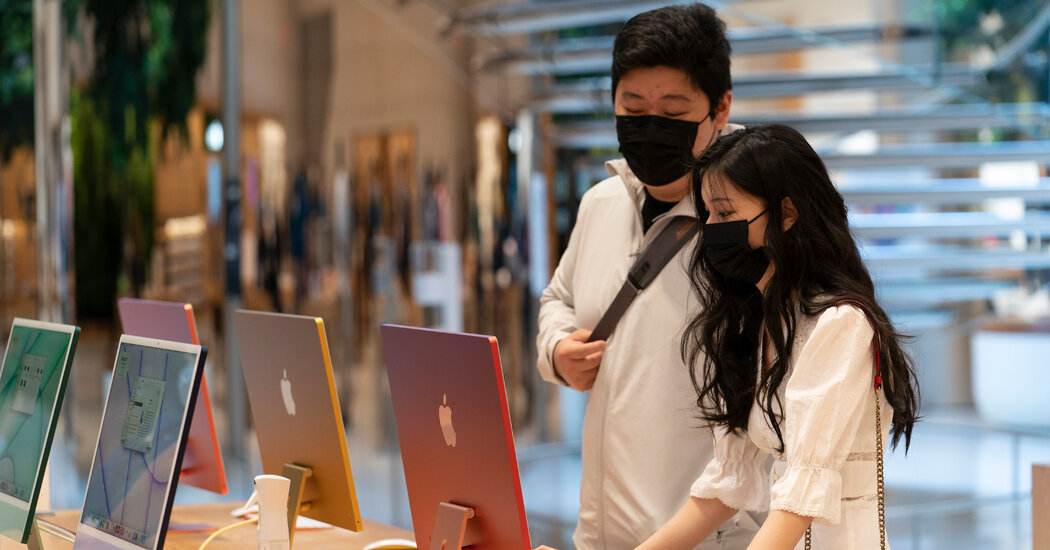 Apple will require masks for customers and employees in many U.S. stores.
