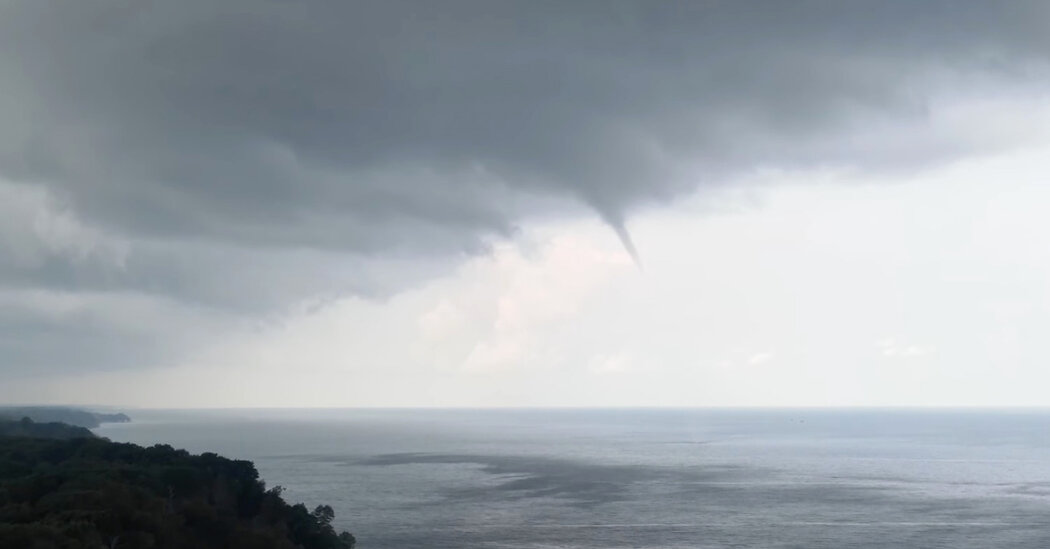 Waterspouts Over the Great Lakes Dazzle Onlookers