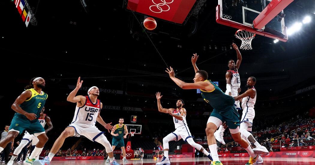 U.S. Men's Basketball In a Close Game Against Australia