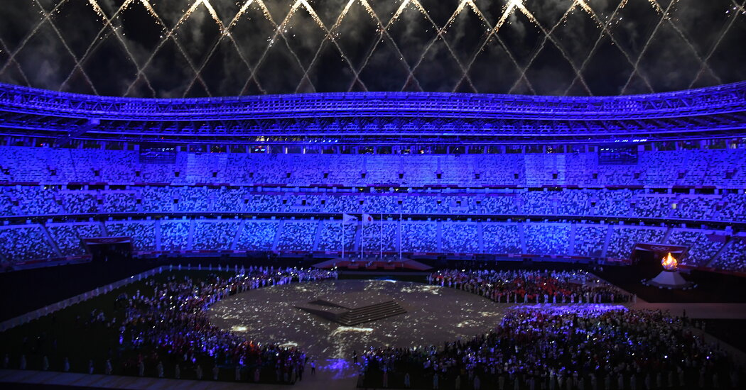 How Did They Make the Olympic Rings During the Closing Ceremony?