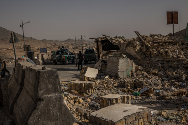 A police outpost was destroyed by the Taliban after the group had briefly overrun it this month in Kandahar, Afghanistan.