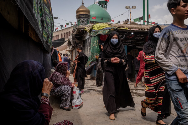 Ashura commemorations in Kabul, Afghanistan, on Thursday.