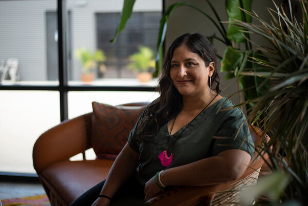 Veronica Garza and her brother, Miguel, of Siete Family Foods have offered employees Zoom workouts to replace the ones they did at the office and have even sent them weights.