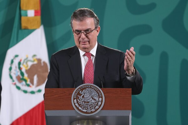 The Foreign Minister of Mexico, Marcelo Ebrard, last week