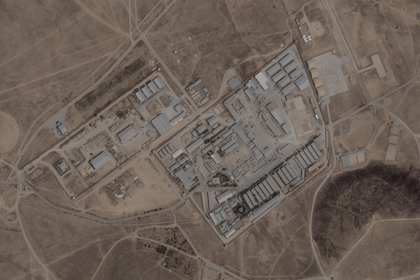 The C.I.A. compound in Kabul, Afghanistan, seen by satellite on Aug. 24.