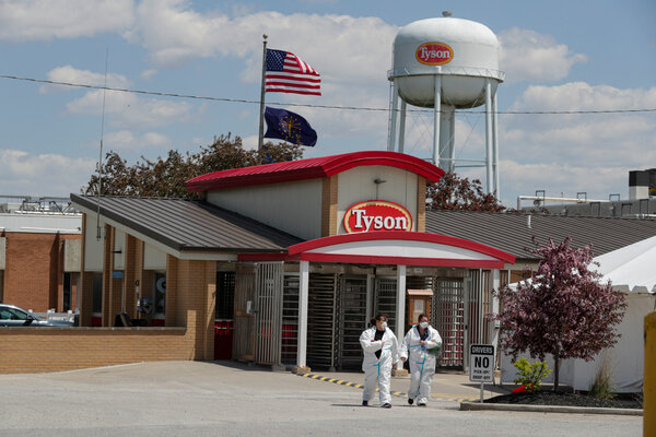 Tyson Foods said that roughly 75 percent of its U.S. work force has received at least one dose of the vaccine.