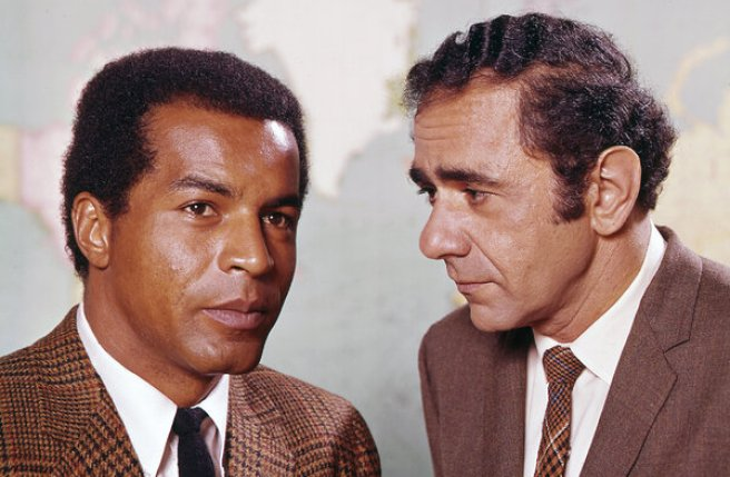 """Mr. Constantine with Lloyd Haynes in the TV series """"Room 222,"""" seen on ABC from 1969 to 1974. He won an Emmy for his portrayal of a principal who presided over a high school with grumpy humanity."""