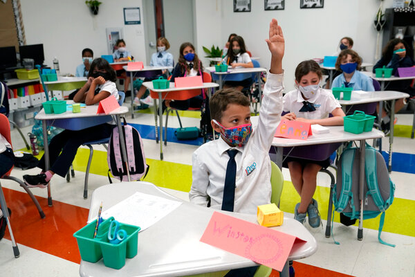 The first day of school, last month, at iPrep Academy in Miami.