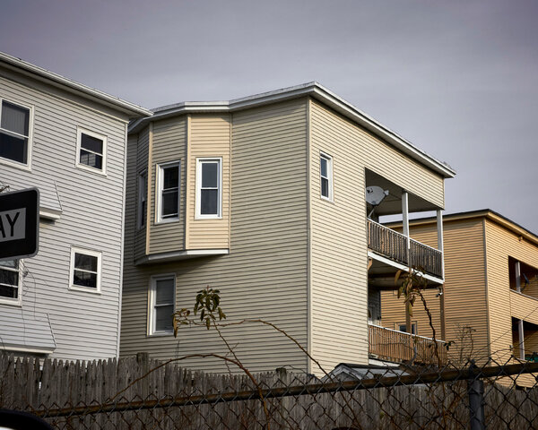 An apartment complex in Chicopee, Mass. In some places, tenants do not have official leases, making them hard to find, and harder to help.