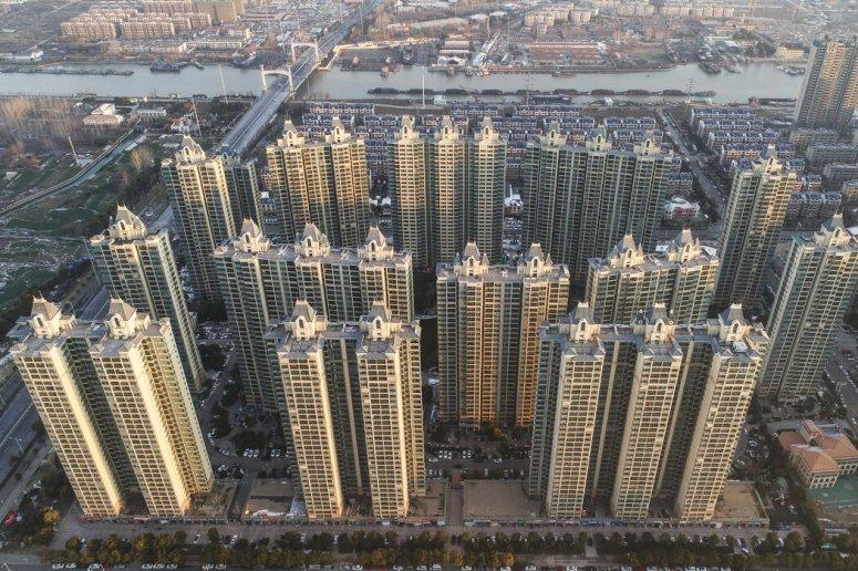 """恒大集团在中国江苏的一个开发项目。中国监管机构已威胁要让恒大这种""""债务炸弹""""崩溃。"""