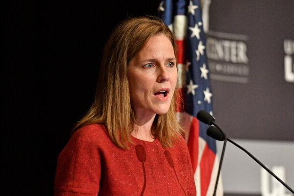"""""""To say the court's reasoning is flawed,"""" Justice Amy Coney Barrett said, """"is different from saying the court is acting in a partisan manner."""""""