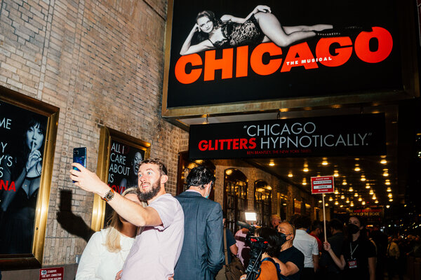 """""""Chicago,"""" a beloved musical which this year marks 25 years on Broadway, reopened on Tuesday to enthusiastic crowds."""