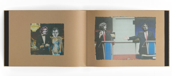 """Could that be Glenn Close's head, on a body with a tuxedo? Jarmusch won't say beyond, """"I try not to think too much about the kind of juxtapositions I'm creating."""" Images are from his monograph """"Some Collages,"""" by Anthology Editions."""