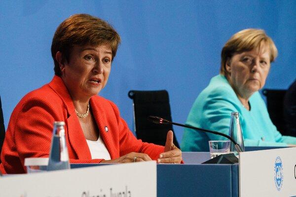 , The I.M.F.'s executive board clears Kristalina Georgieva to remain managing director., The Habari News New York