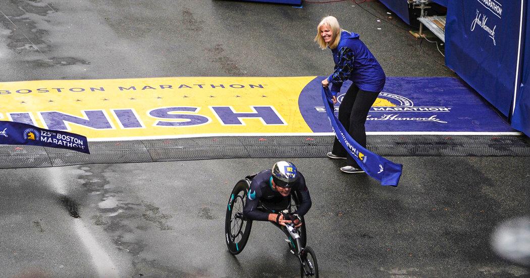, Marcel Hug Wins the Men's Wheelchair Race of the Boston Marathon, The Habari News New York