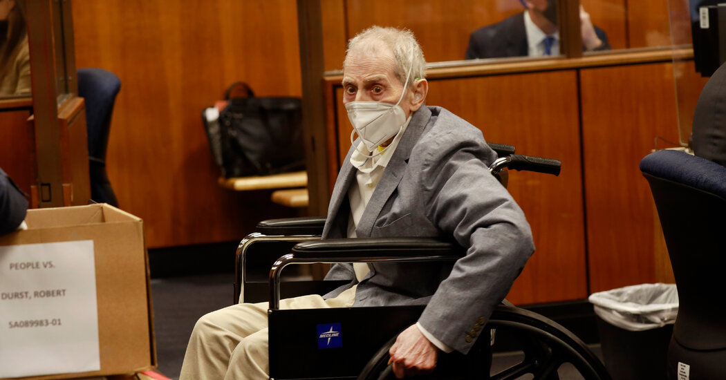 , Robert Durst Sentenced to Life in Prison for Friend's Murder, The Habari News New York