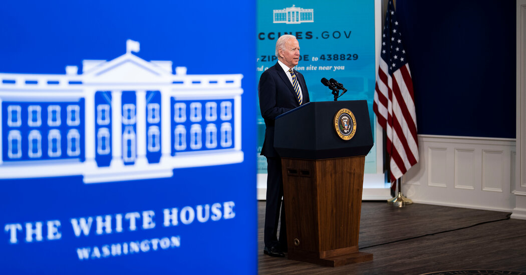 , Biden calls on businesses to 'step up' as he expresses optimism about the fight against the virus., The Habari News New York