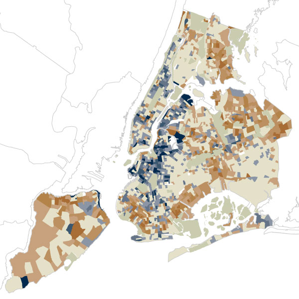 How New York s Racial Makeup Has Changed Since 2000   Map   NYTimes com