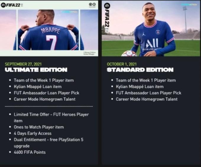FIFA 22: Veja quais são os bônus de pré-compra que você pode ganhar