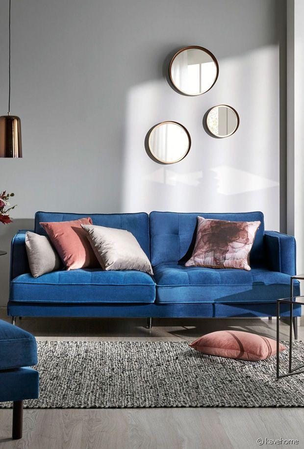 comment integrer un canape bleu dans