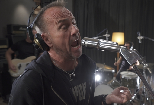 Martin, recording with The Resurrection Club