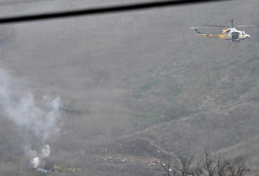 Imágenes del accidente del helicóptero del deportista
