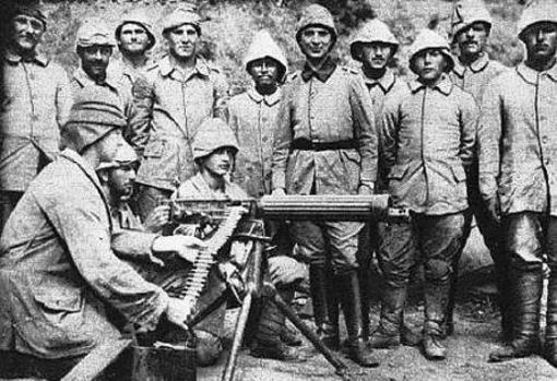 Soldados turcos en la Primera Guerra Mundial