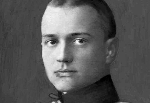 Barón Von Richthofen. Esta instantánea fue publicada en la prensa poco después de que se conociera su derribo y su muerte