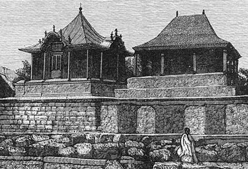 La tumba de Radama i, el difunto rey de Madagascar