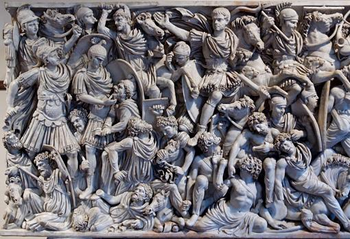 Panel central del Sarcófago Ludovisi