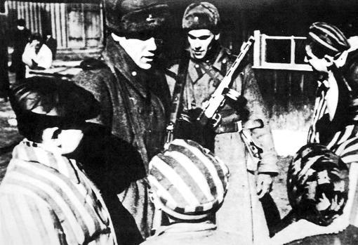 Liberación del campo en enero de 1945