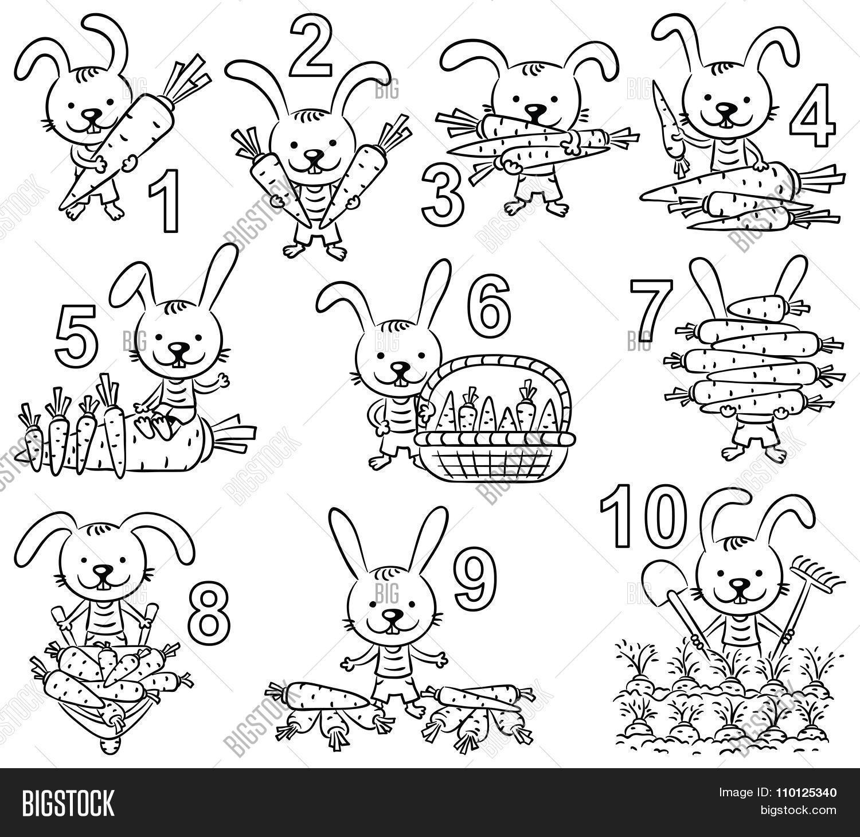Numbers 1 10 Cartoon Vector Amp Photo Free Trial