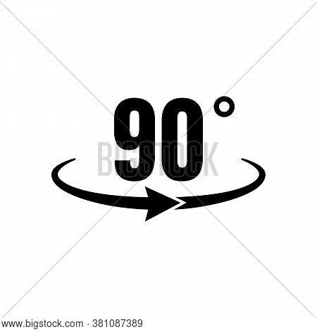 angle 90 degrees icon vector photo