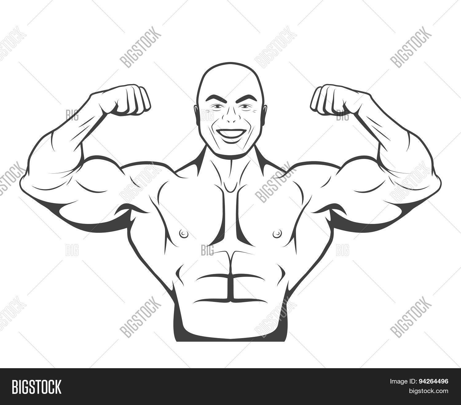 Strong Bodybuilder Vector Amp Photo Free Trial
