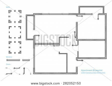 Floor Plan Apartment Vector Photo