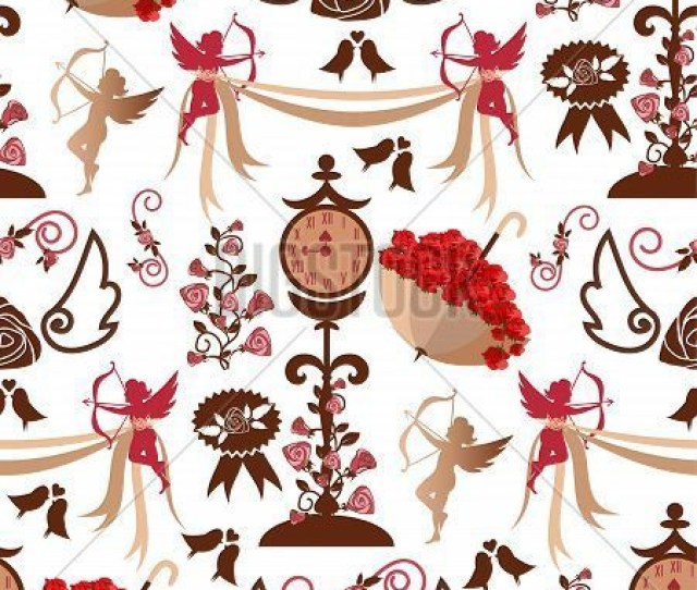 Valentine S Day Seamless Pattern Red Hearts Background Design Love Valentine Day Heart Vector Illustration