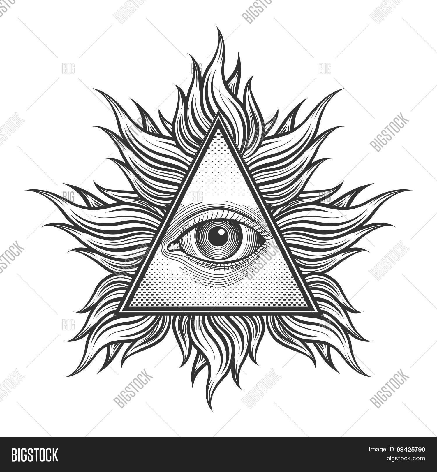 All Seeing Eye Vector Amp Photo Free Trial