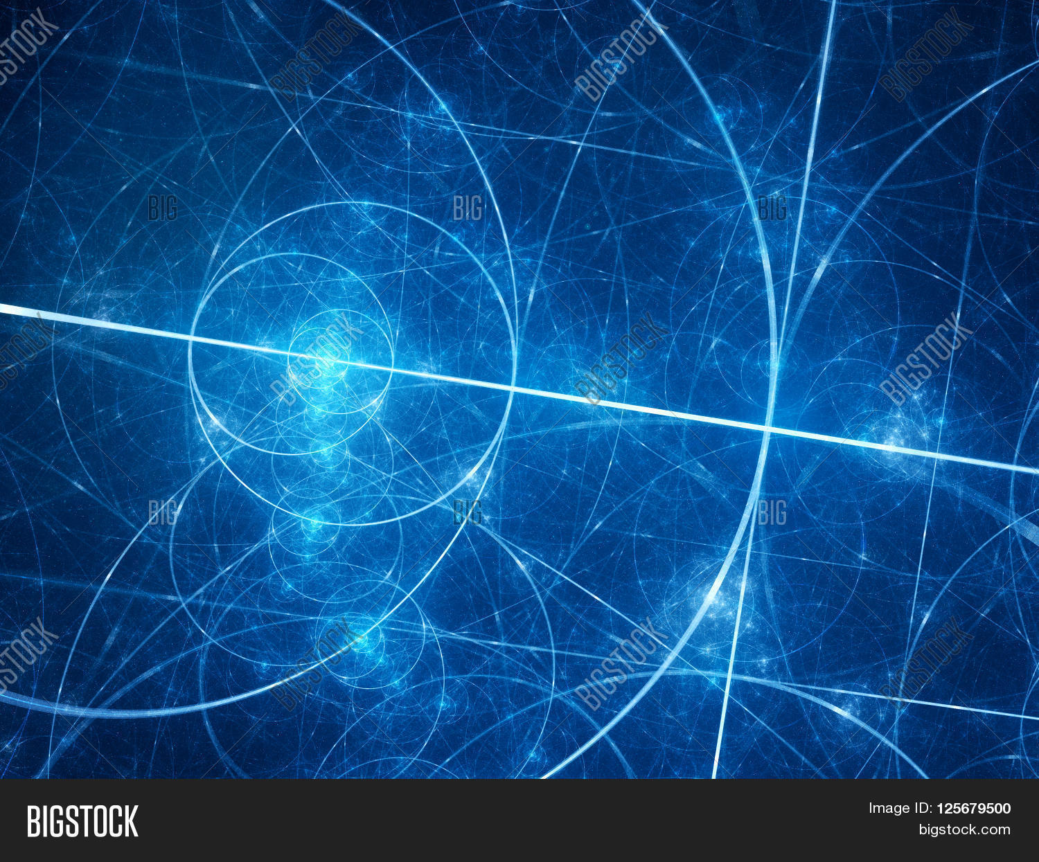 Blue Glowing Fibonacci Image Amp Photo Free Trial