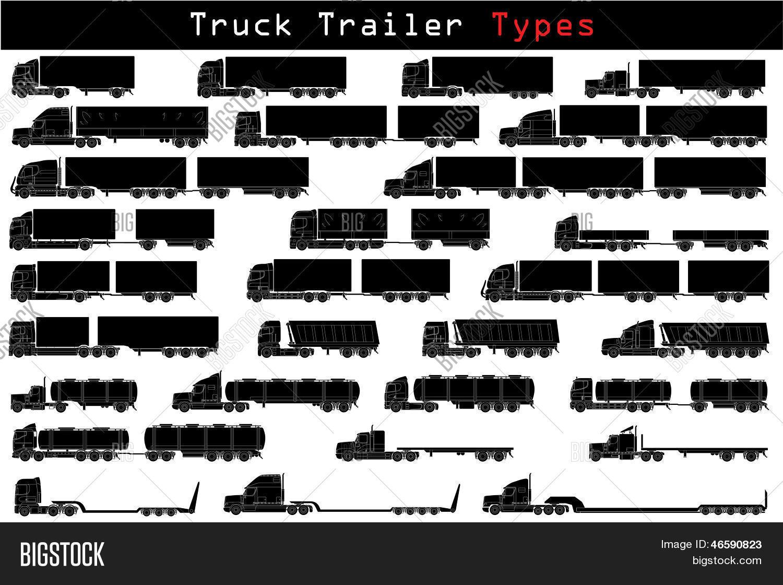 Truck Trailer Types Vector Amp Photo