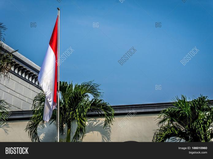 Indonesia Flag On Mast Image Photo Free Trial Bigstock