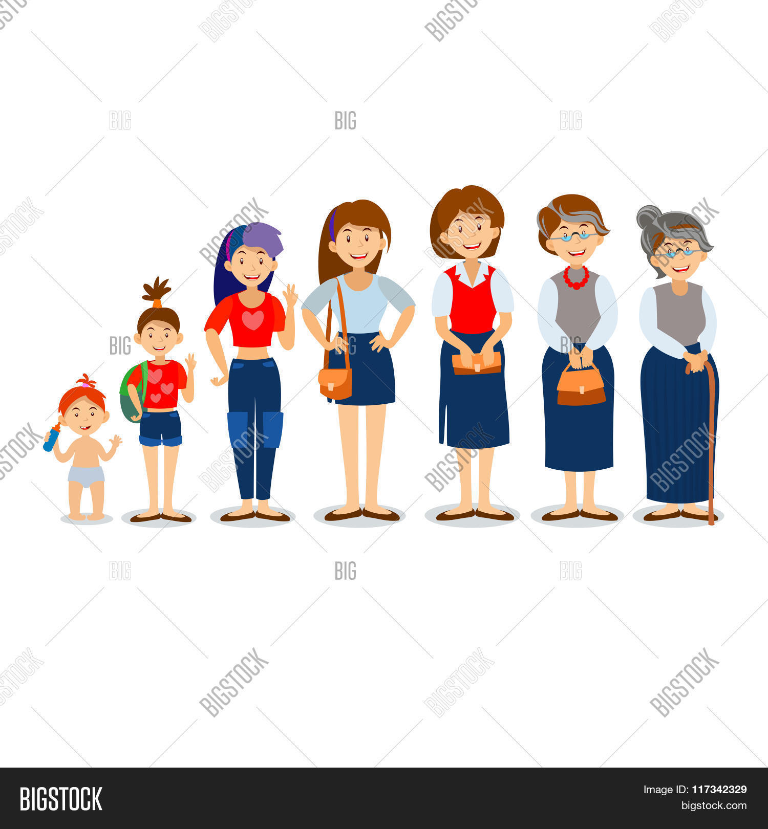 Generations Woman Vector Amp Photo Free Trial